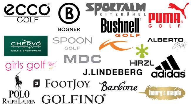 Unsere Golf-Fashion-Marken im Shop: adidas, puma, ecco, bogner golf, sportalm, bushnell, spoon golf, chervo golf&sportswear, kjus, alberto, hirzl, j.lindeberg, footjoy, polo ralph lauren, barb'one, henry&magda, golfino, mdcgirls golf